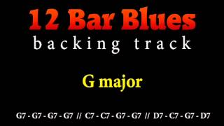 Slow blues backing track in G major for guitar solo (12 bar blues)