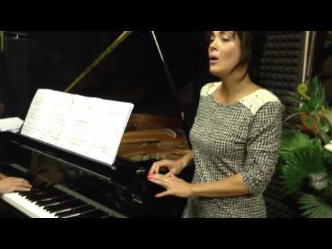 Amanda Squitieri (soprano) and Bryan Pezzone (piano) rehearsal.