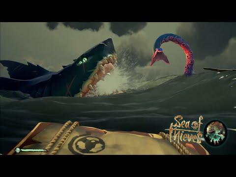 Megalodon VS Kraken | Sea Of Thieves