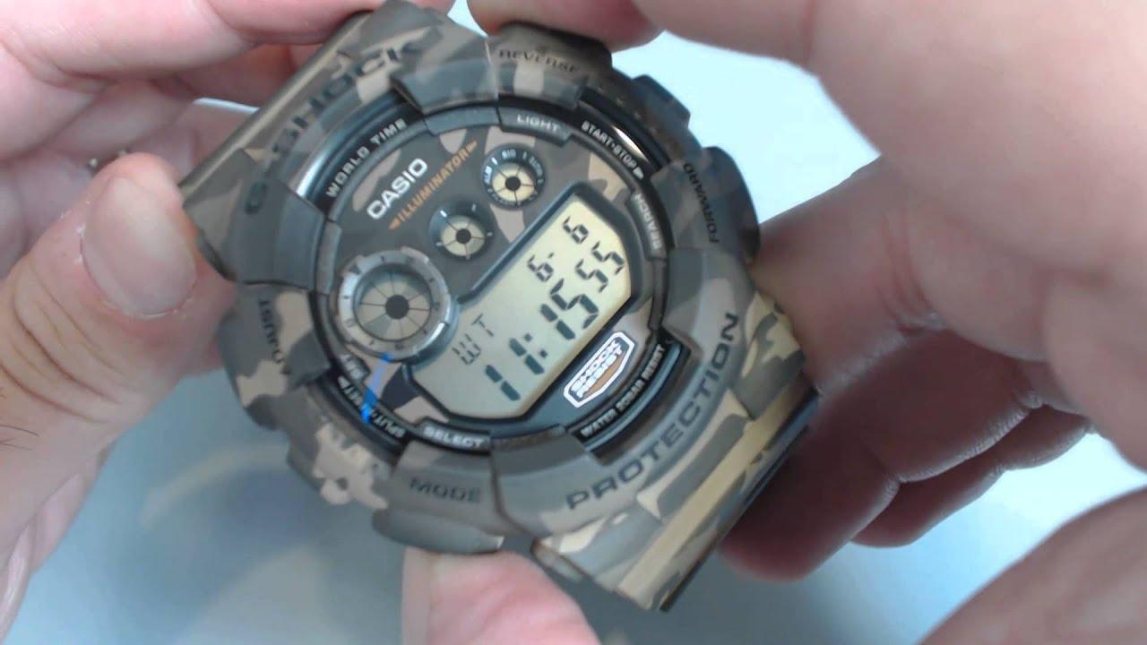 d6b57c8f2dae Casio G-Shock Camouflage Digital Sports Watch GD120CM-5 - YouTube