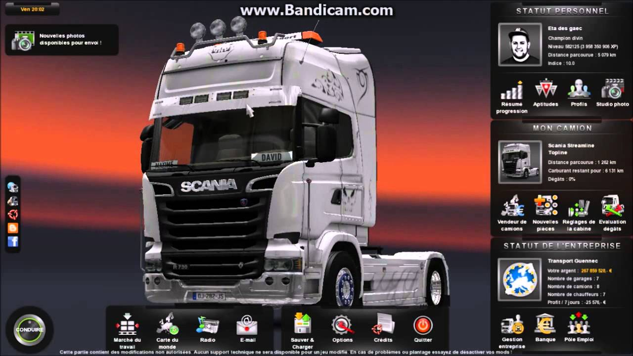 tuto fr comment enlever le limitateur de vitesse euro truck 2 youtube. Black Bedroom Furniture Sets. Home Design Ideas