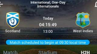 West indies vs Scotland squads & macht info 21/3/2018 Video