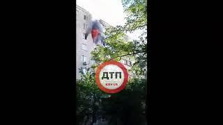 Киев. Пожар, квартира. Борщаговка, Булгакова 5-Б