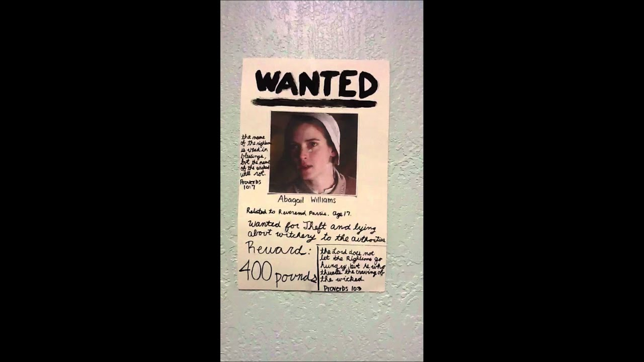 Abigail Williams wanted poster. - YouTube