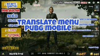 PUBG MOBILE (ANDROID AND IOS) - TRANSLATE MENU AND SETTING IN ENGLISH