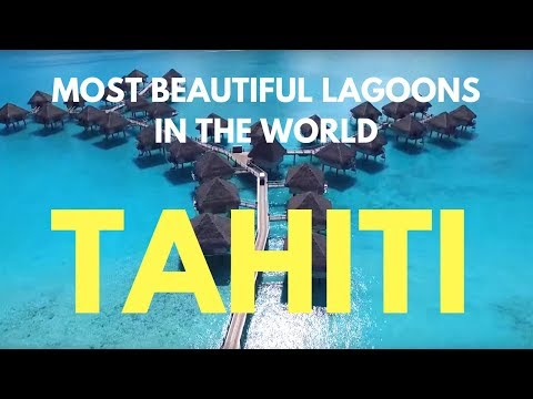 Islands of Tahiti by Drone - Most beautiful lagoons in the world