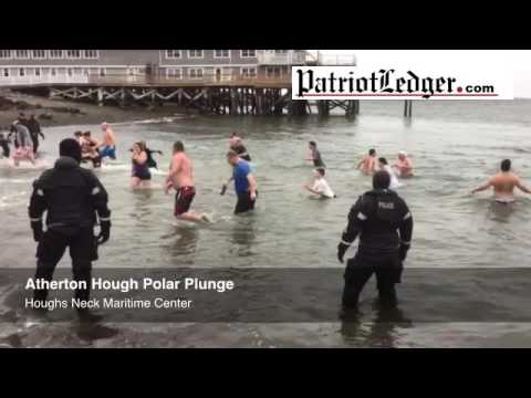 Atherton Hough School holds its annual polar plunge at Houghs Neck Maritime Center