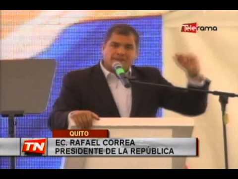 Presidente Correa inauguró la ruta Collas
