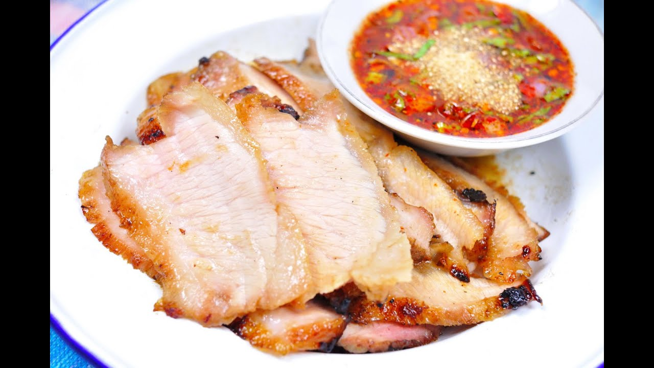 Thai Grilled Pork Neck - คอหมูย่าง (Kor Moo Yang) [4K ...