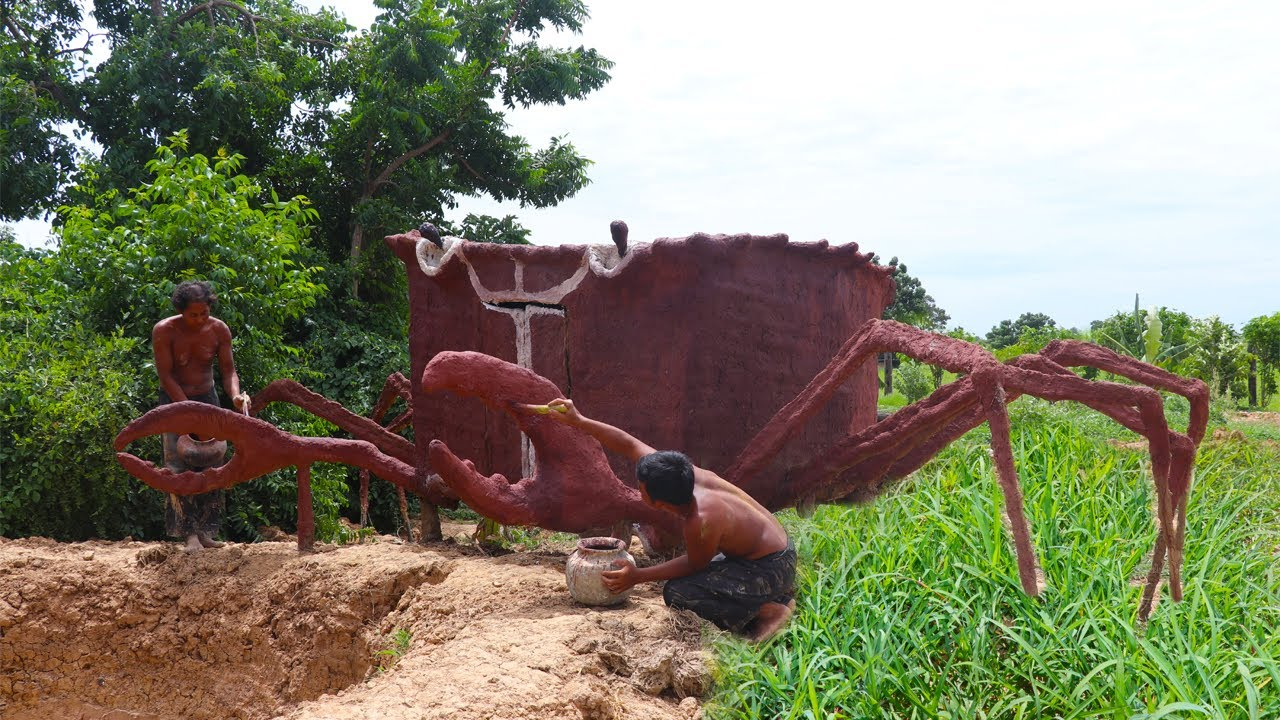 How To Build Swimming Pool Outline And Mud Crab House By Ancient Skill