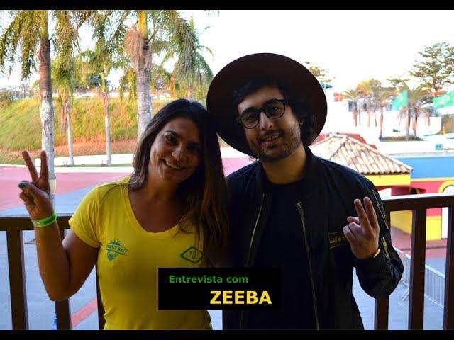Entrevista com Zeeba no Hopi Hari