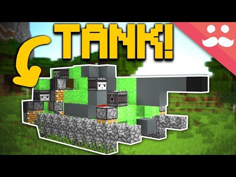 Making a WORKING TANK in Minecraft!