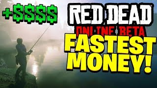 Red Dead Redemption 2 Online - FASTEST WAY TO MAKE MONEY! (Red Dead Online Beta)
