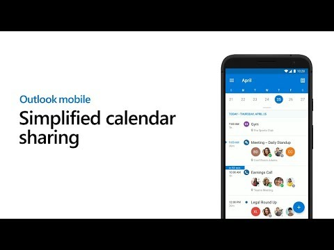 Calendar Sharing For Easier Scheduling - Outlook For Mobile