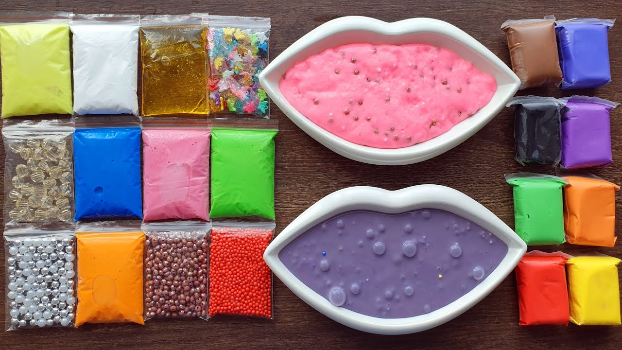 Download Making Slime with Bags Clay and Old Slime Mixing