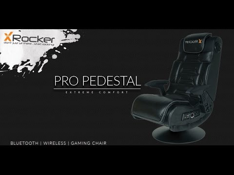 X Rocker Pro Pedestal Gaming Chair White Covers To Buy Entertainment With Surround Sound Built In