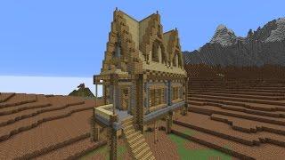 minecraft medieval casa montanha