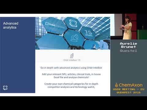 Aurelie Brunet (Questel): Integrating ChemAxon's Patent Searches and IP Landscape Analyses