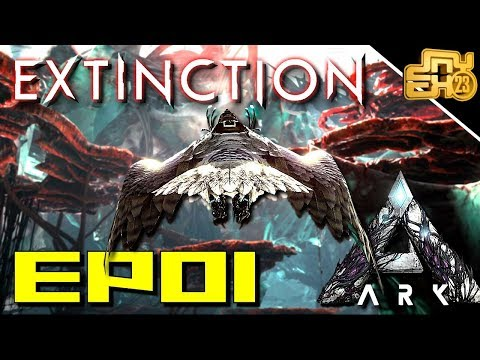 ARK EXTINCTION EP 1 - OFFICIAL PVP - 150 TAME ALREADY!!
