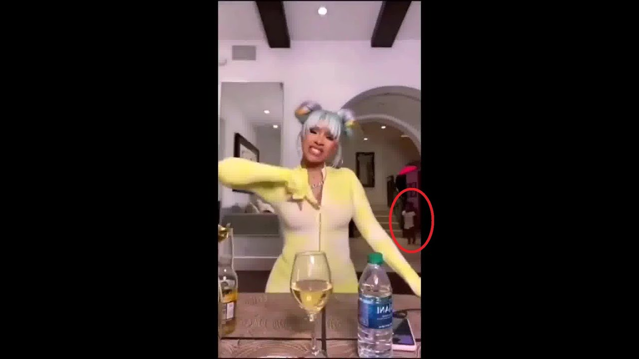 Mom (Cardi B) gets caught by Daughter (Kulture) listening to WAP by Cardi with Megan Thee Stallion