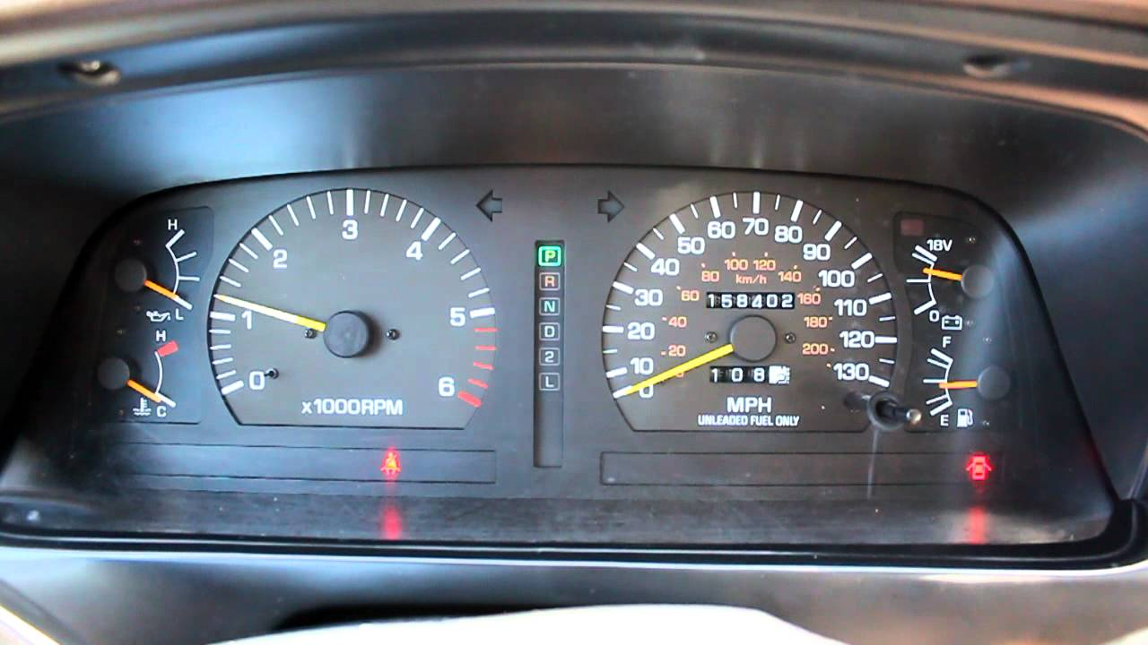 toyota land cruiser dash start up fj80  YouTube
