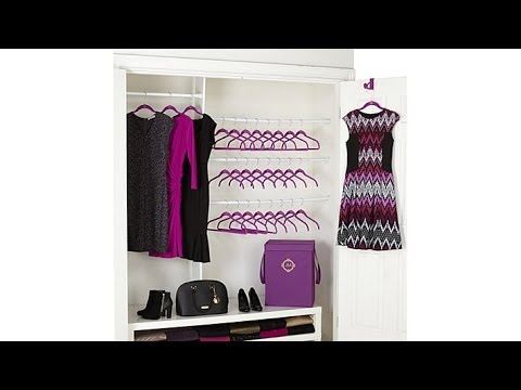 Huggable Hangers 26pc Set with Hamper  Brass