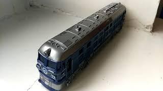 Поезд модель пластик свет,звук 23 см
