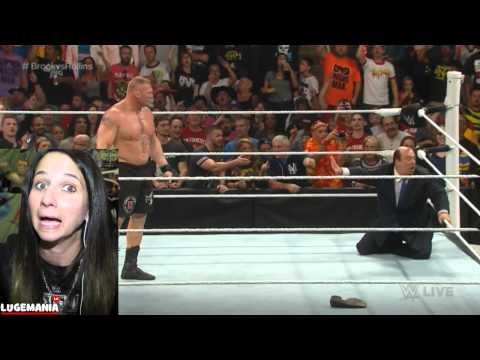 WWE Raw 3/30/15 Brock Goes BANANAS