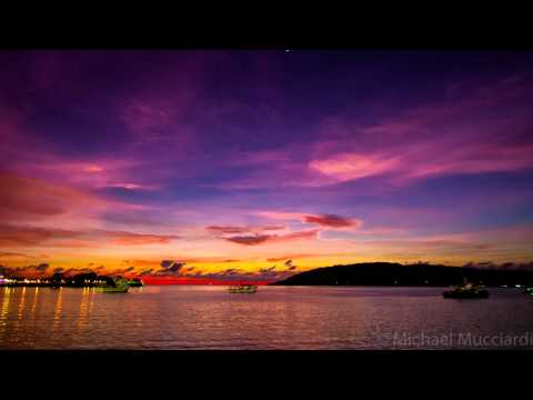 4kHD Timelapse Sunset at Kota Kinabalu waterfront - Malaysia May 19 2015