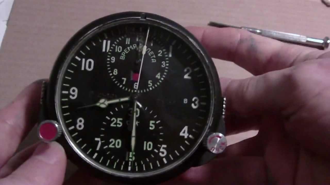 1d69cacb596 Soviet or Russian MiG cockpit clock model ACS-1M - YouTube