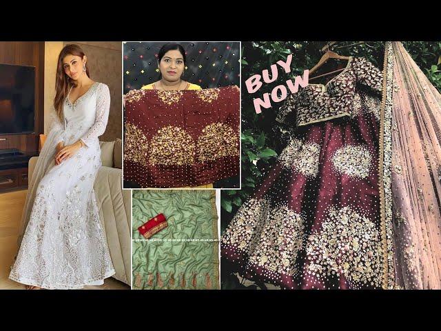 Buy Designer Saree/Lehenga Choli/Salwar Kameez #mouniroydress #prititrendz #onlineshopping #cod