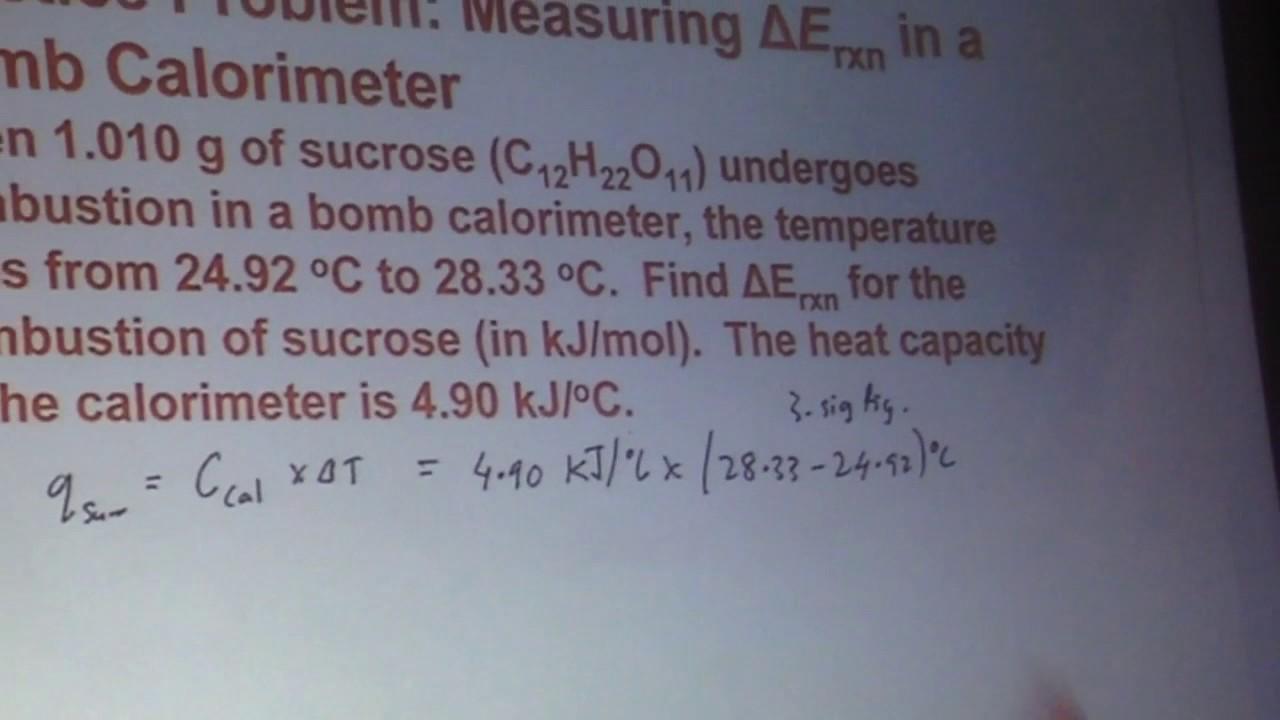 Measuring ΔErxn in a Bomb Calorimeter - YouTube