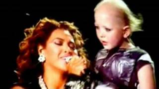 "Beyonce sings ""HALO"" to an adorable little girl name Chelsea who is..."