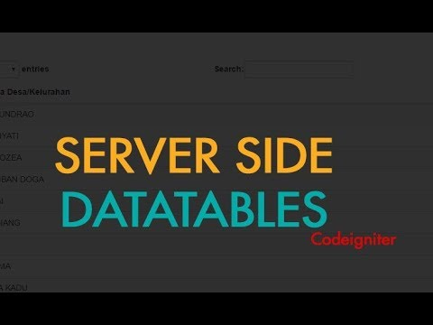 Using Datatables with CodeIgniter Tutorial