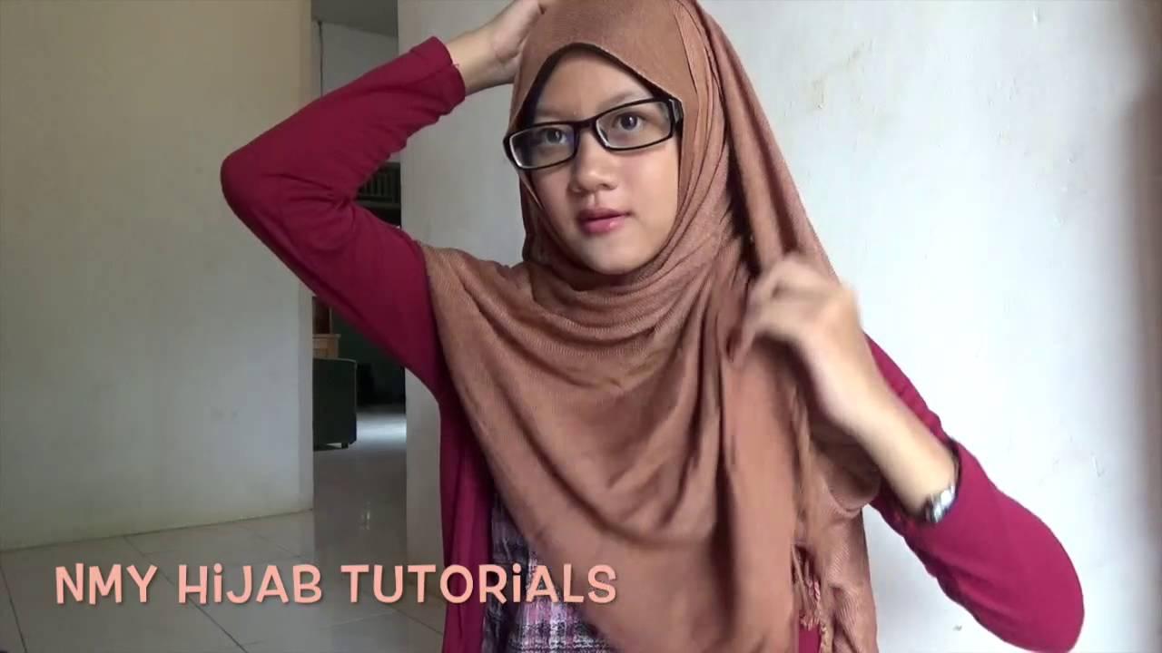 Tutorial Hijab Pashmina Simple Berkacamata Daily Hijab NMY Hijab