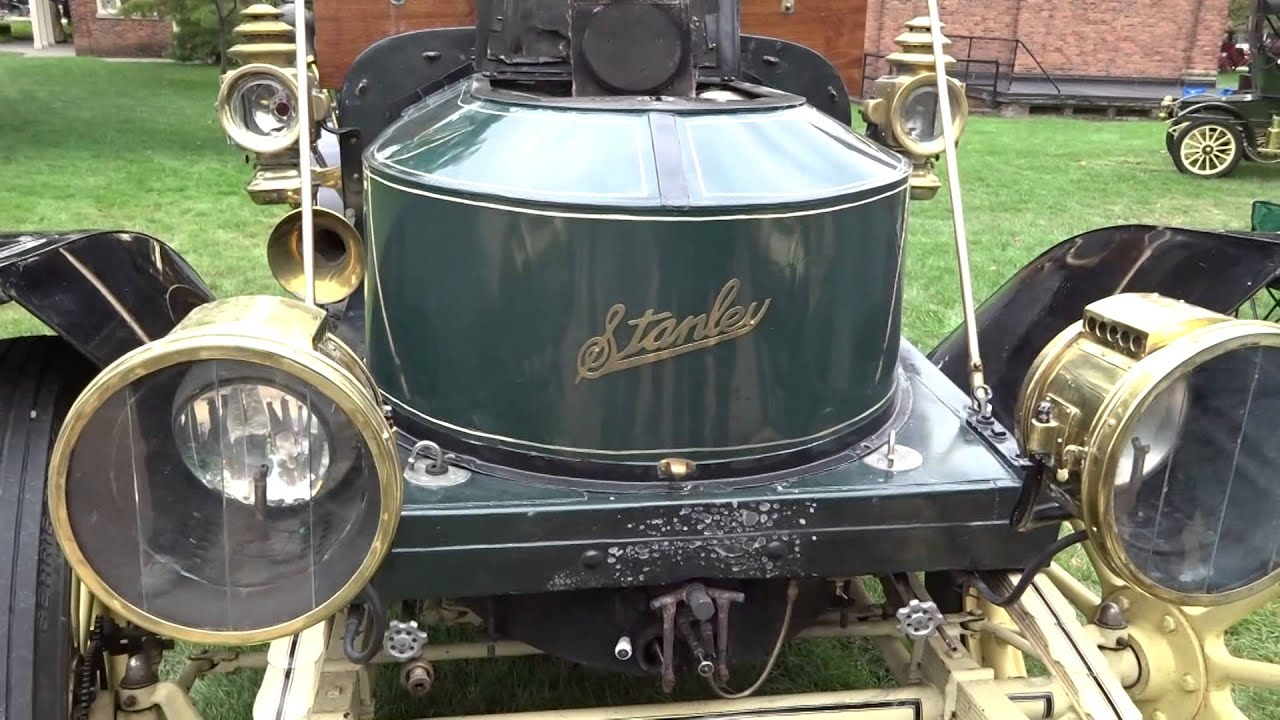 Stanley Steamer Car >> Starting a 1910 Stanley Steamer - Catching Fire - Full Version - YouTube
