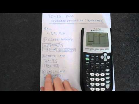 TI-84 Plus Standard Deviation Super Easy