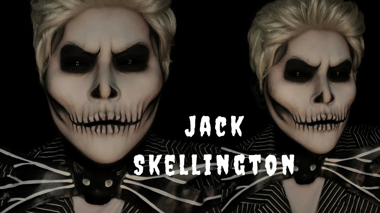 JACK SKELLINGTON | HALLOWEEN COSTUME MAKEUP TUTORIAL - YouTube