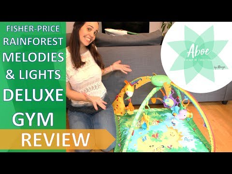 Fisher Price Rainforest Melodies And Lights Deluxe Gym REVIEW | Baby Product Review | Aboe By Marga