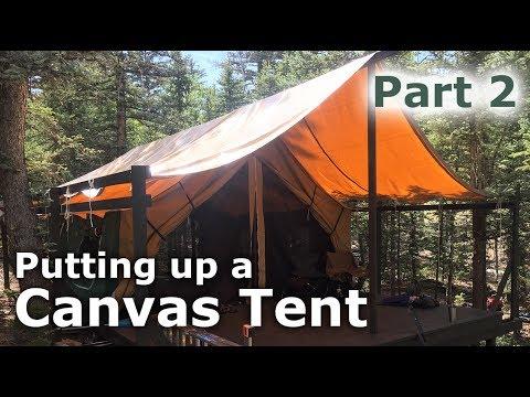 Putting up Our Canvas Tent -Platform Deck Tent - Part 2 - Our Journey  Episode #60 & Putting up Our Canvas Tent -Platform Deck Tent - Part 2 - Our ...