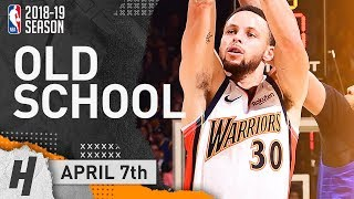 Stephen Curry Wearing We Believe Throwback Jersey! EPIC Highlights vs Clippers 2019.04.07