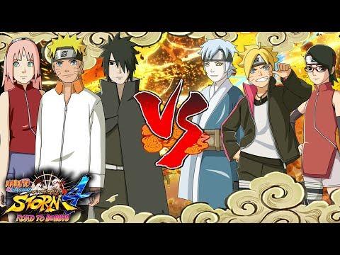 Naruto Gaiden Team 7 vs Team Konohamaru - Naruto Shippuden Ultimate Ninja Storm 4 Road to Boruto |