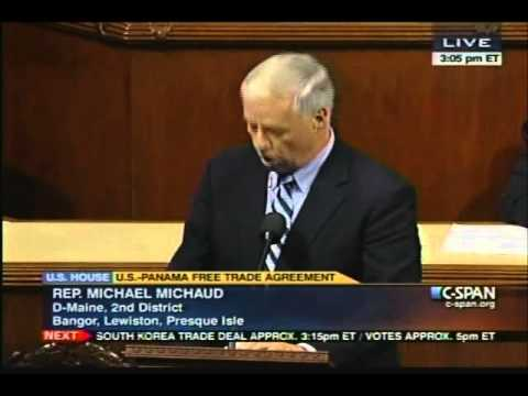 Michaud Speaks in Opposition to Panama Free Trade Agreement (10-12-11)