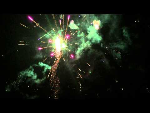Front yard finale 2015! Used 40+ cakes from Phantom Fireworks Evanston WY. Almost 8 min finale.