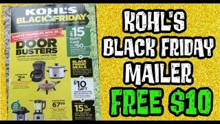 Kohl's Black Friday Mailer FREE $10.00 Coupon