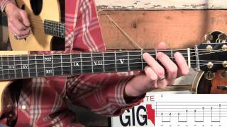 How to Flatpick Billy in the Lowground on Guitar...Basic & Advanced!