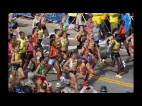 Man arrested after dropping backpack at Boston Marathon finish line.