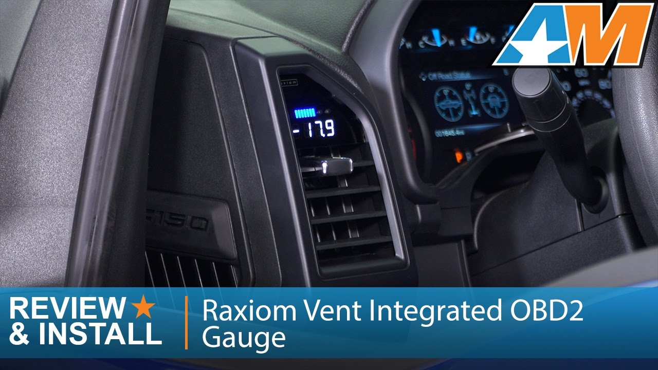 2015 2016 F 150 Raxiom Vent Integrated Obd2 Multi Gauge W