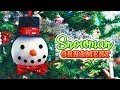 DIY Large Snowman Christmas Tree Ornament // Christmas 2018