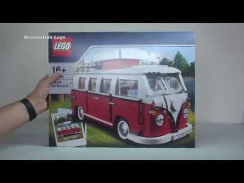 LEGO Volkswagen T1 Camper Van set 10220 Unboxing Video